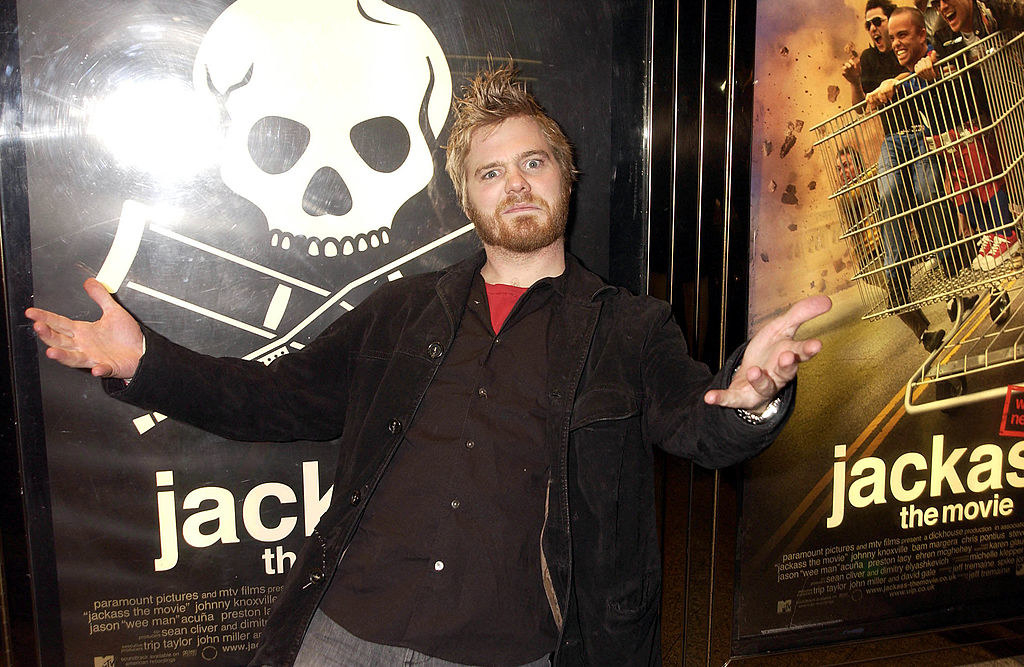 Ryan Dunn at the premiere for Jackass