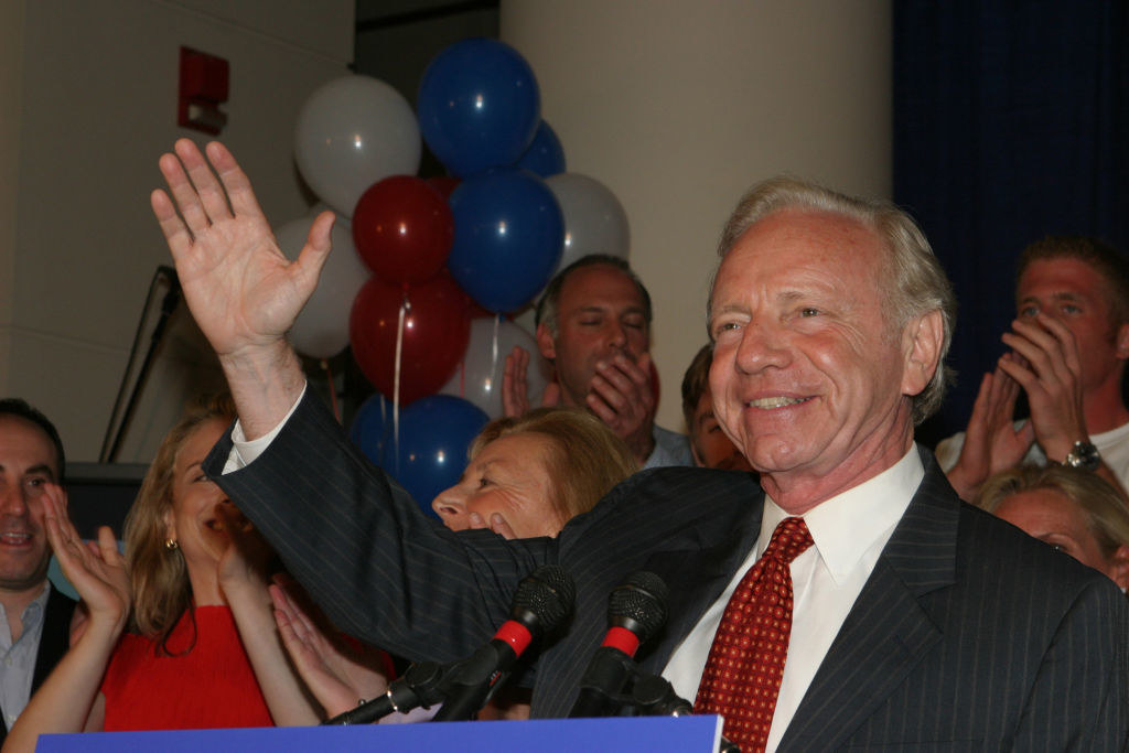 Joe Lieberman at a campaign event