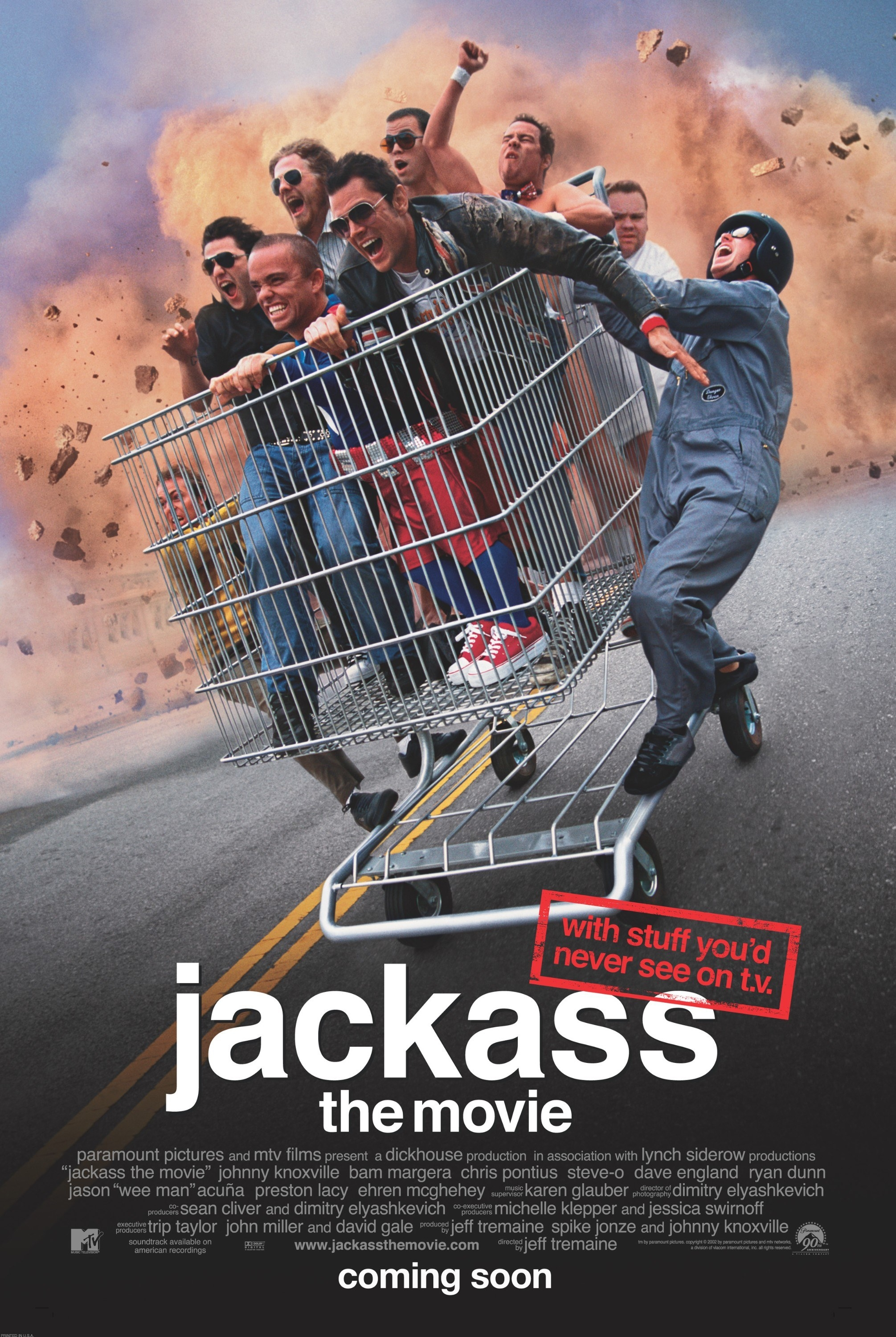 The poster for Jackass the movie