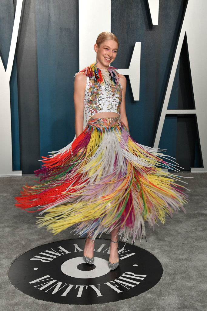 confetti dress with colorful fringe