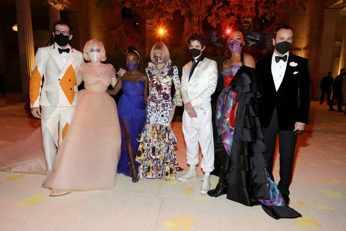 The hosts and chairpeople of the 2021 Met Gala