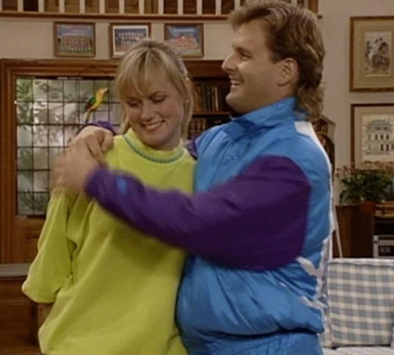 Joey hugging Wendy