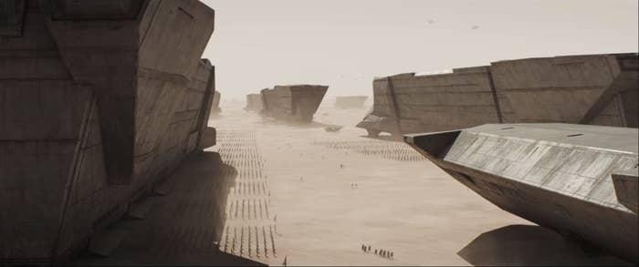 """The desert planet Arrakis from """"Dune"""""""