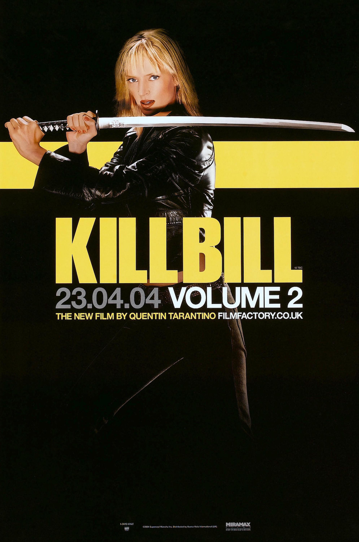 The movie poster for Kill Bill, Vol. 2