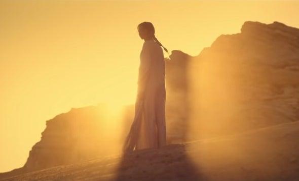 "Chani from ""Dune"" on Arrakis"