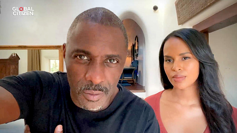 Idris and his wife Sabrina