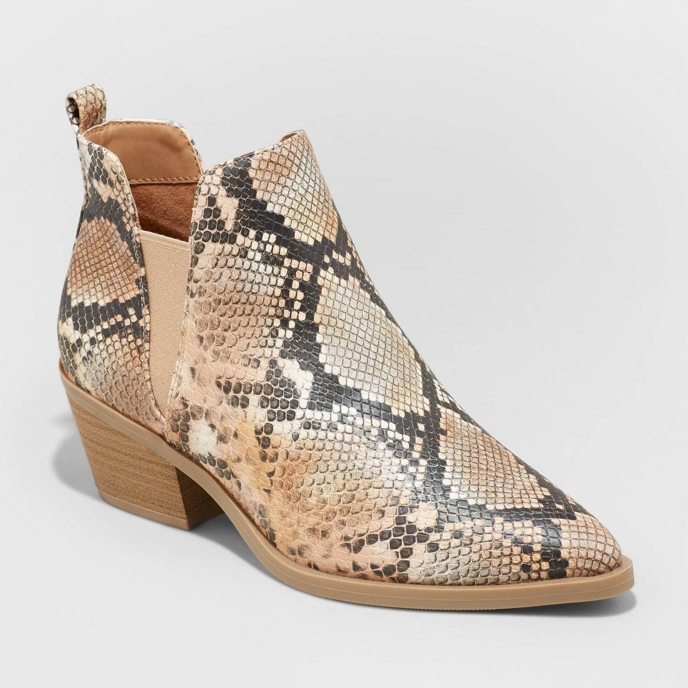 the snakeskin boot