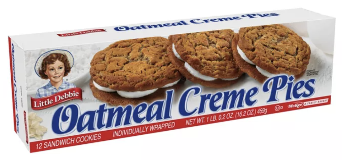 box of Little Debbie Oatmeal Creme Pies