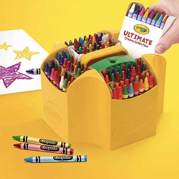Giant 152-set crayola crayons with a built-in sharpener.