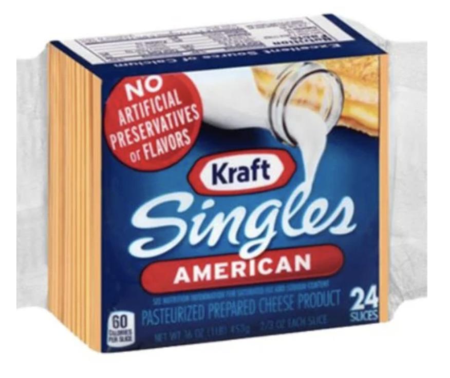 pack of Kraft Singles American cheese