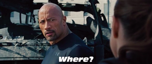 """The Rock saying """"Where"""""""