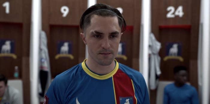 Jamie Tartt in the locker room