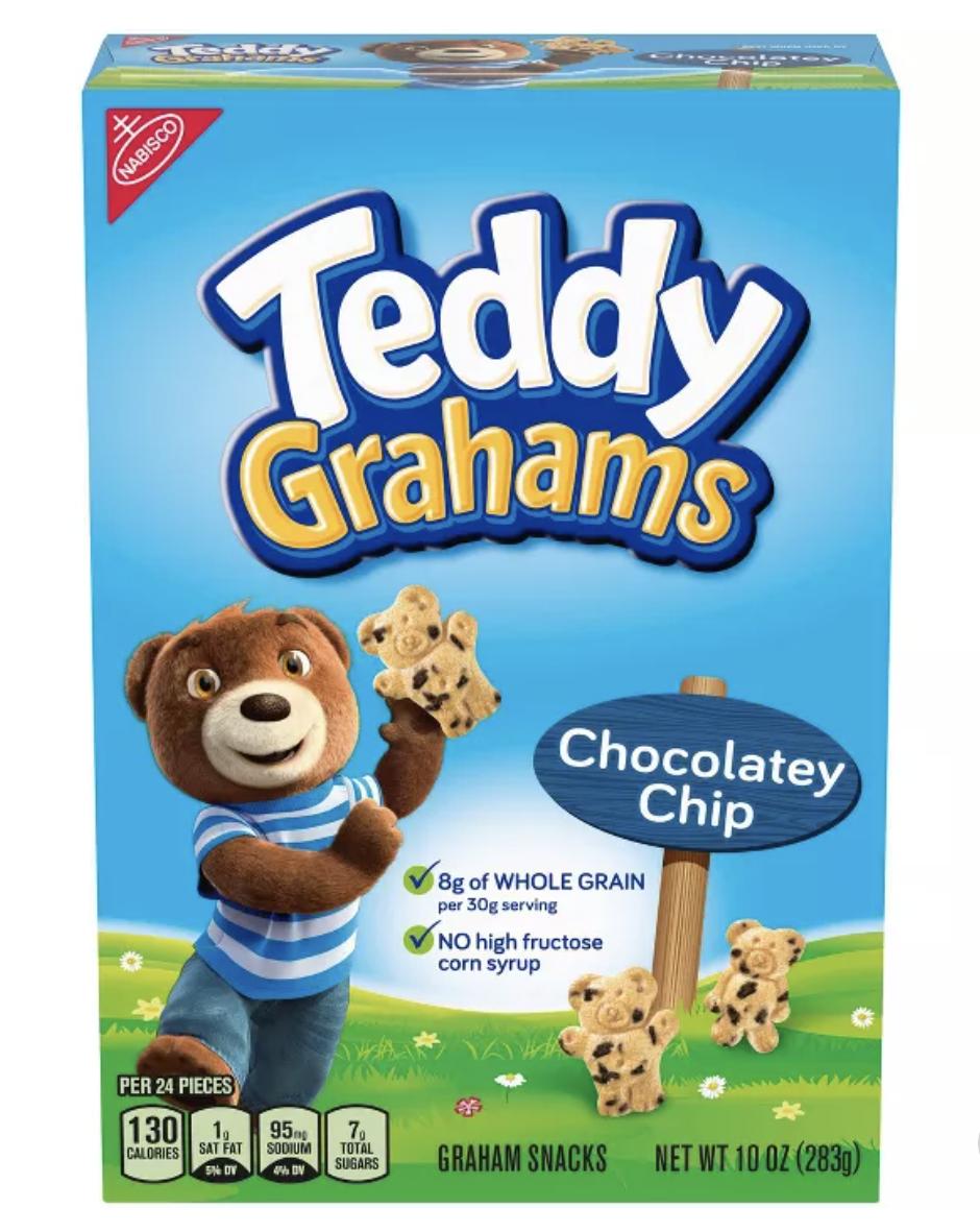box of chocolate chip Teddy Grahams