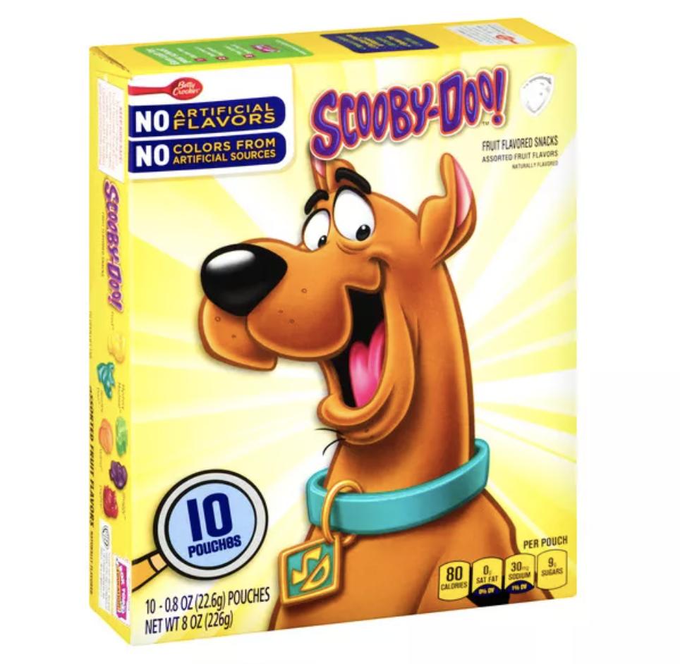 box of Scooby-Doo gummies