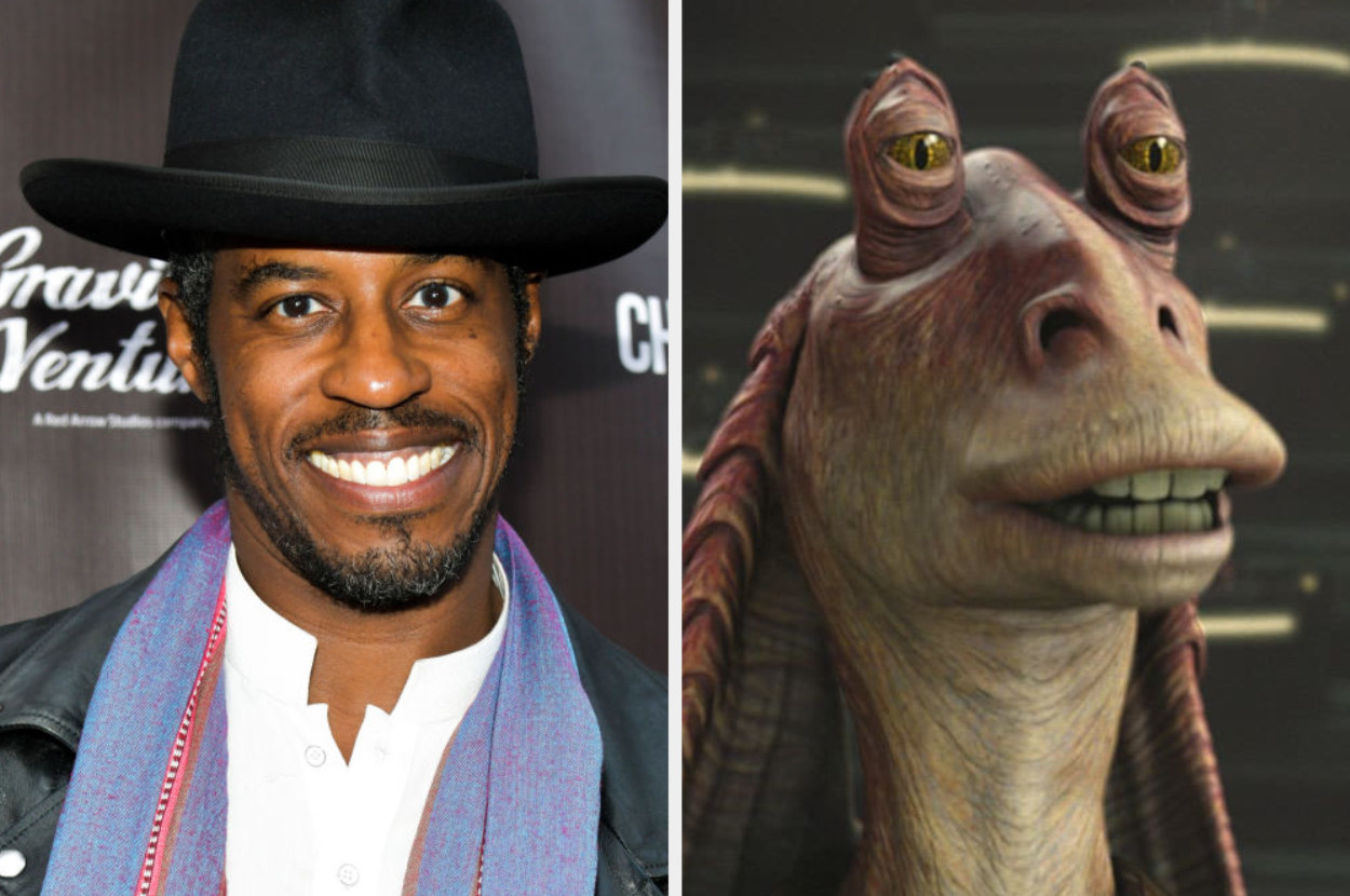 A side by side of Ahmed and Jar Jar