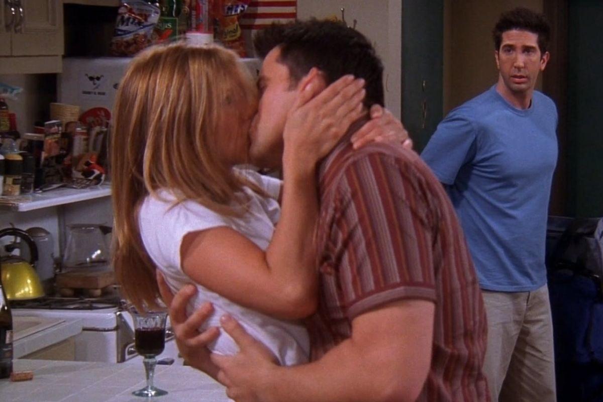 Ross walking in on Rachel and Joey kissing