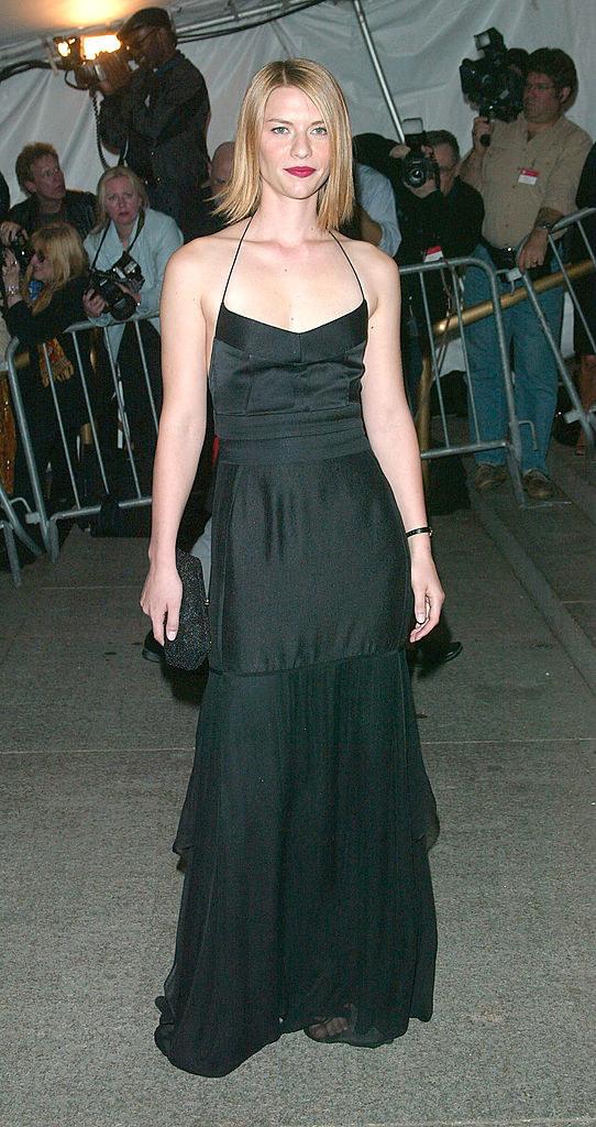 Claire wore a simple spaghetti strap dress