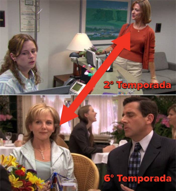 Pam's mom in seasons 2 and 6 played by different actors