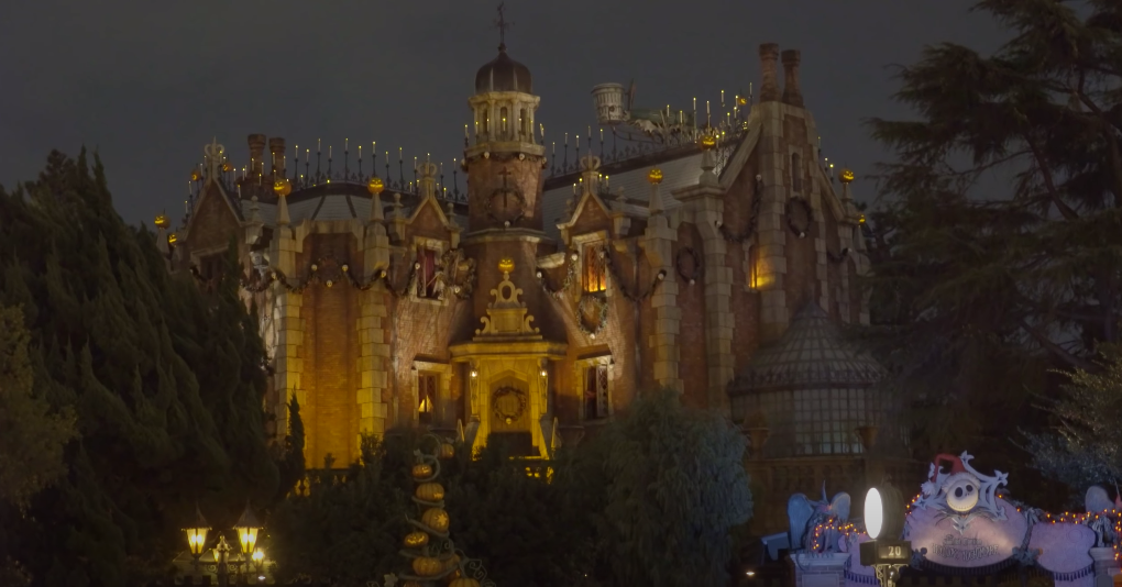 Exterior of Haunted Mansion in Tokyo Disneyland