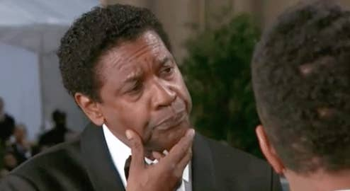 Denzel Washington thinking