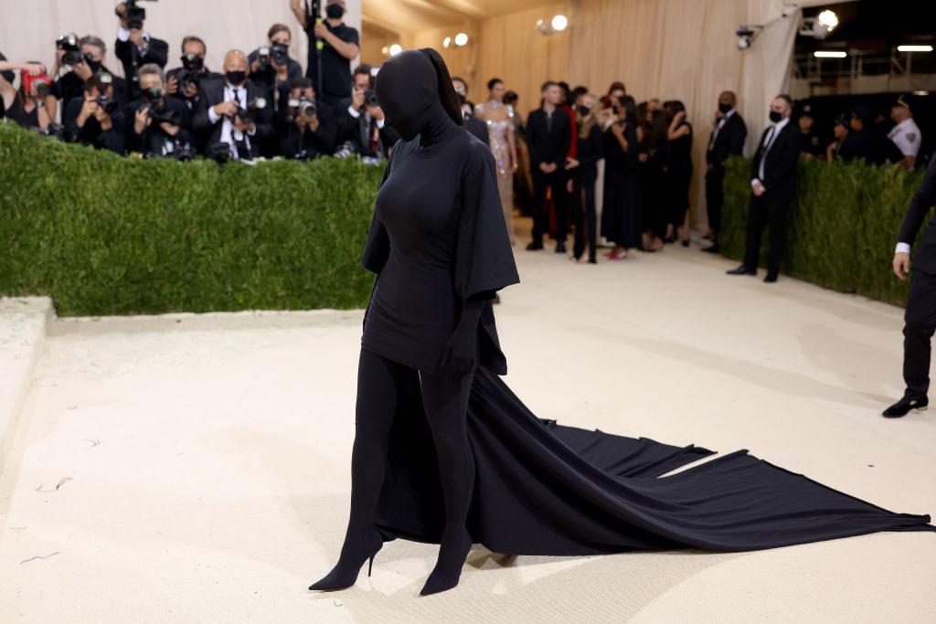 Kim Kardashianarriving at the 2021 Met Gala