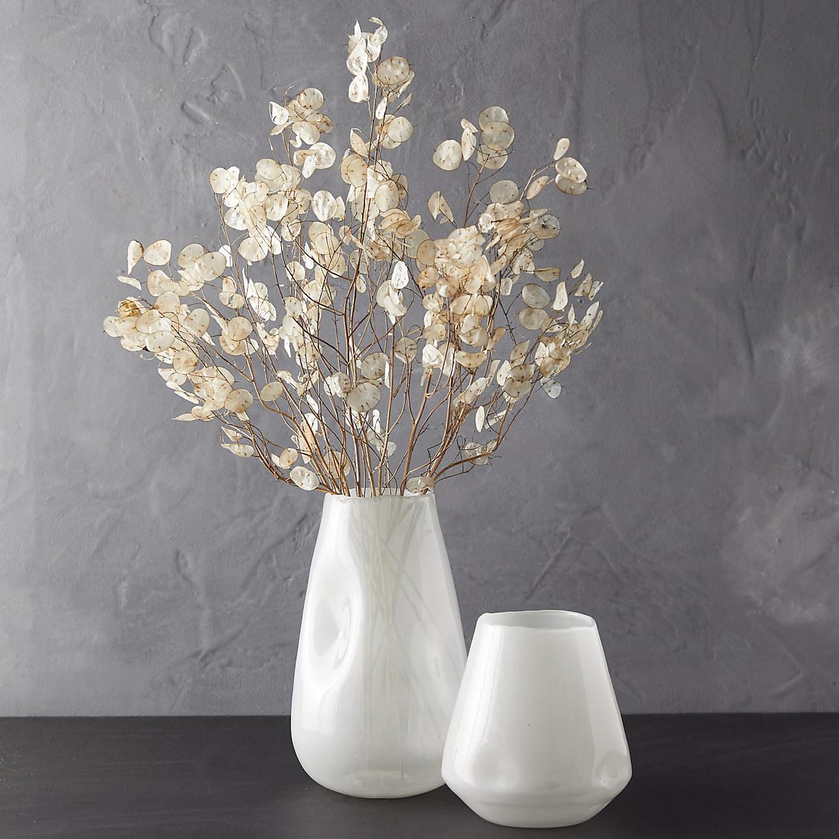 the vase in white