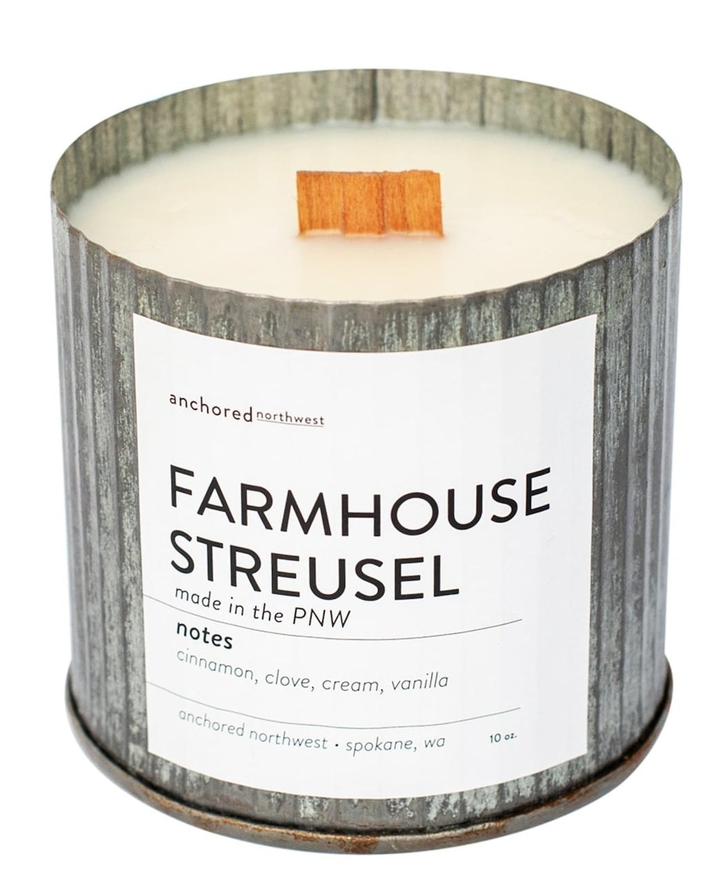 the farmhouse streusel candle
