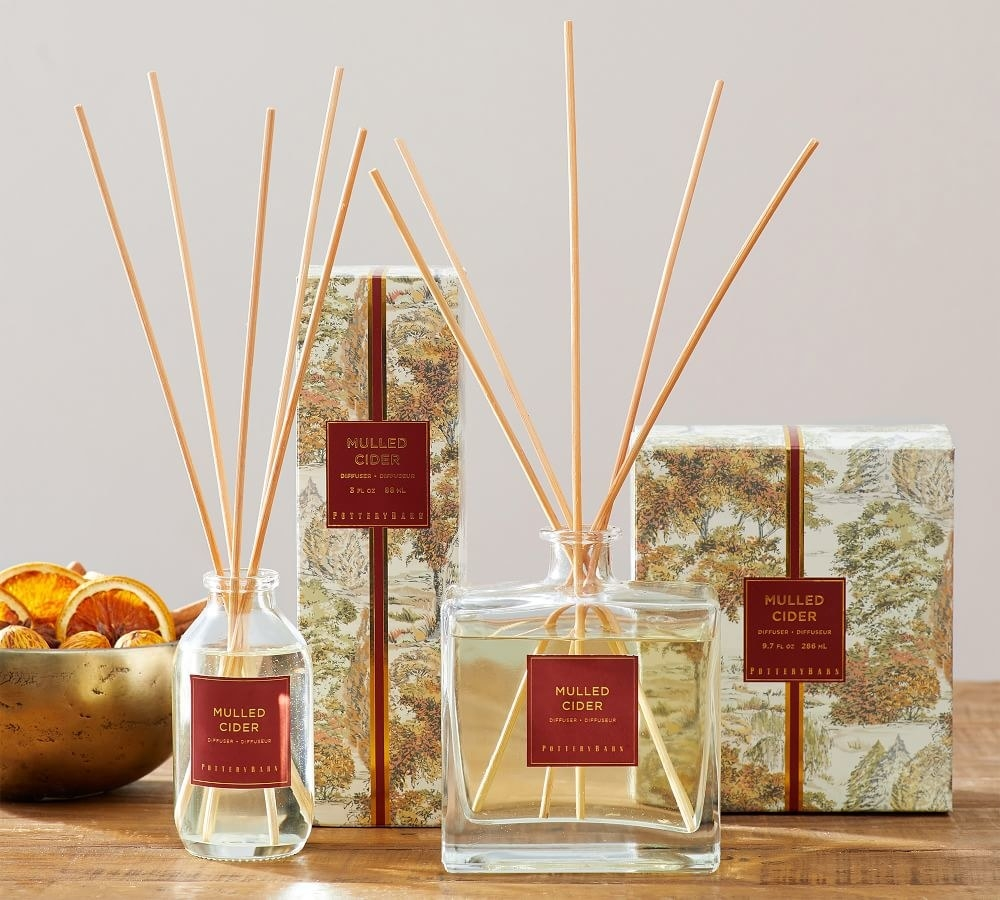 the oil diffusers in miniature and full sizes
