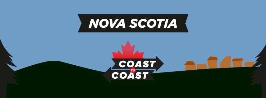 coast to coast illustration that says nova scotia