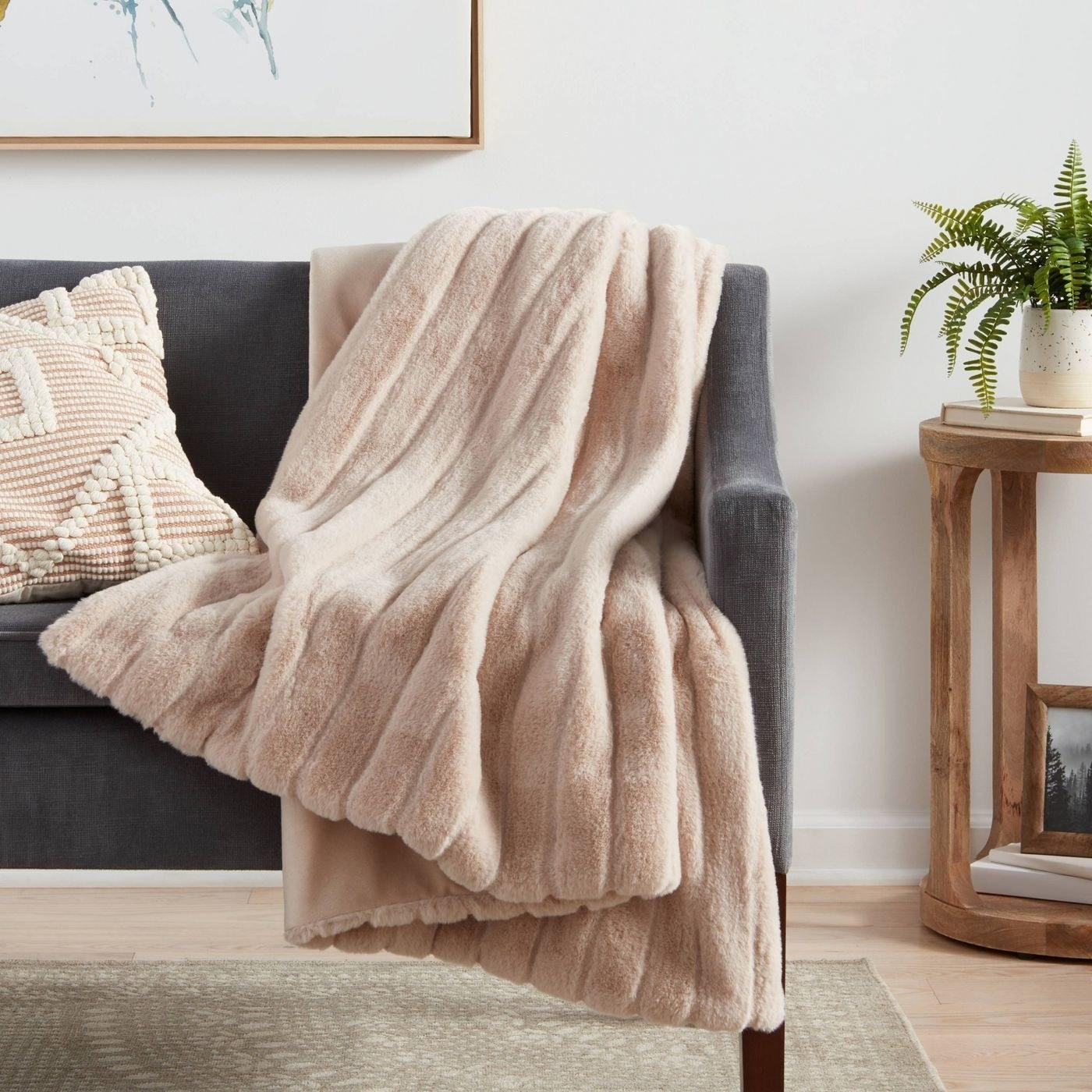 the tan blanket