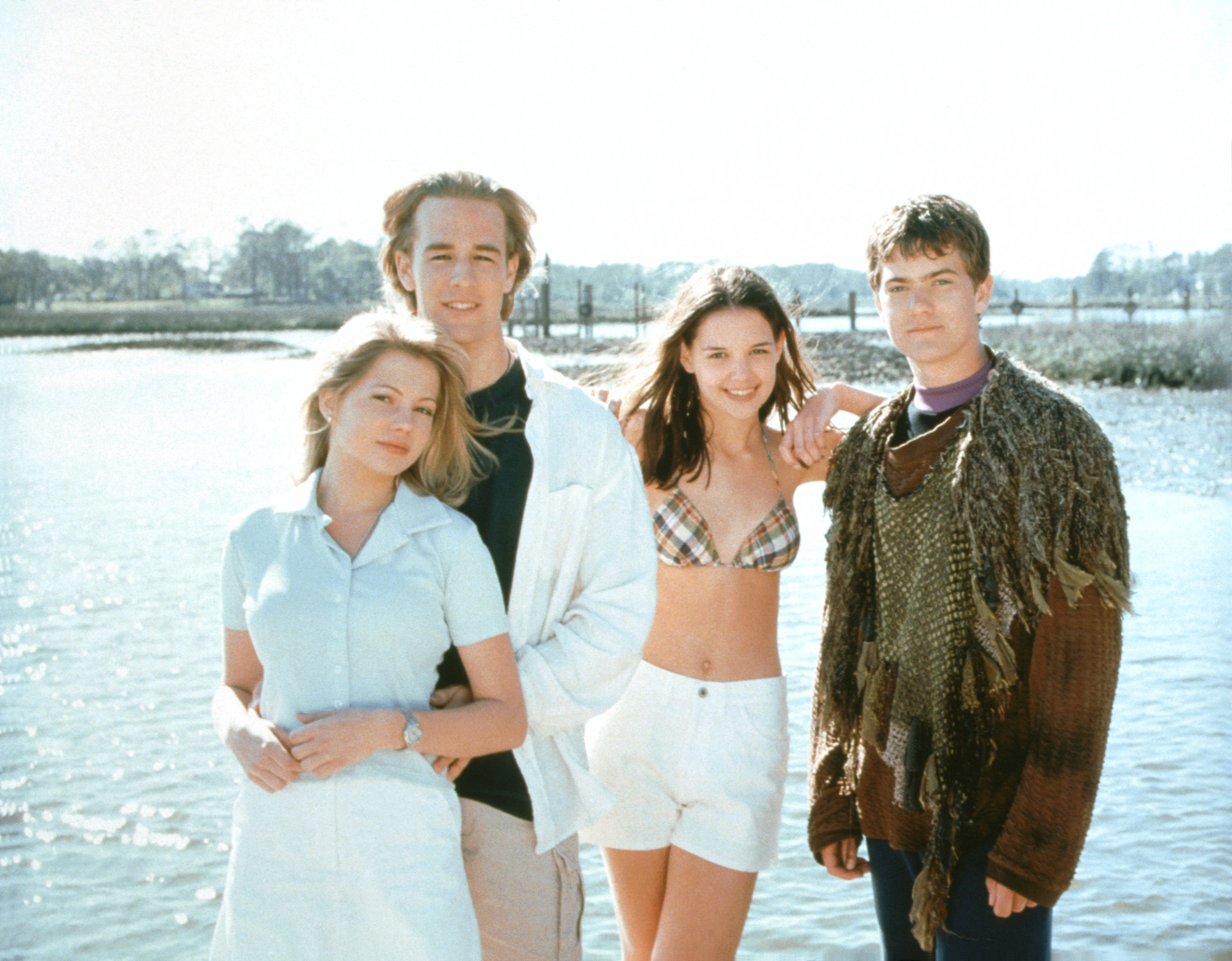 The cast of Dawson's Creek in a promotional photo