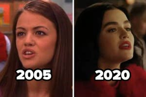 Lucy Hale in 2005 in Ned's Declassified and in 2020 in Riverdale