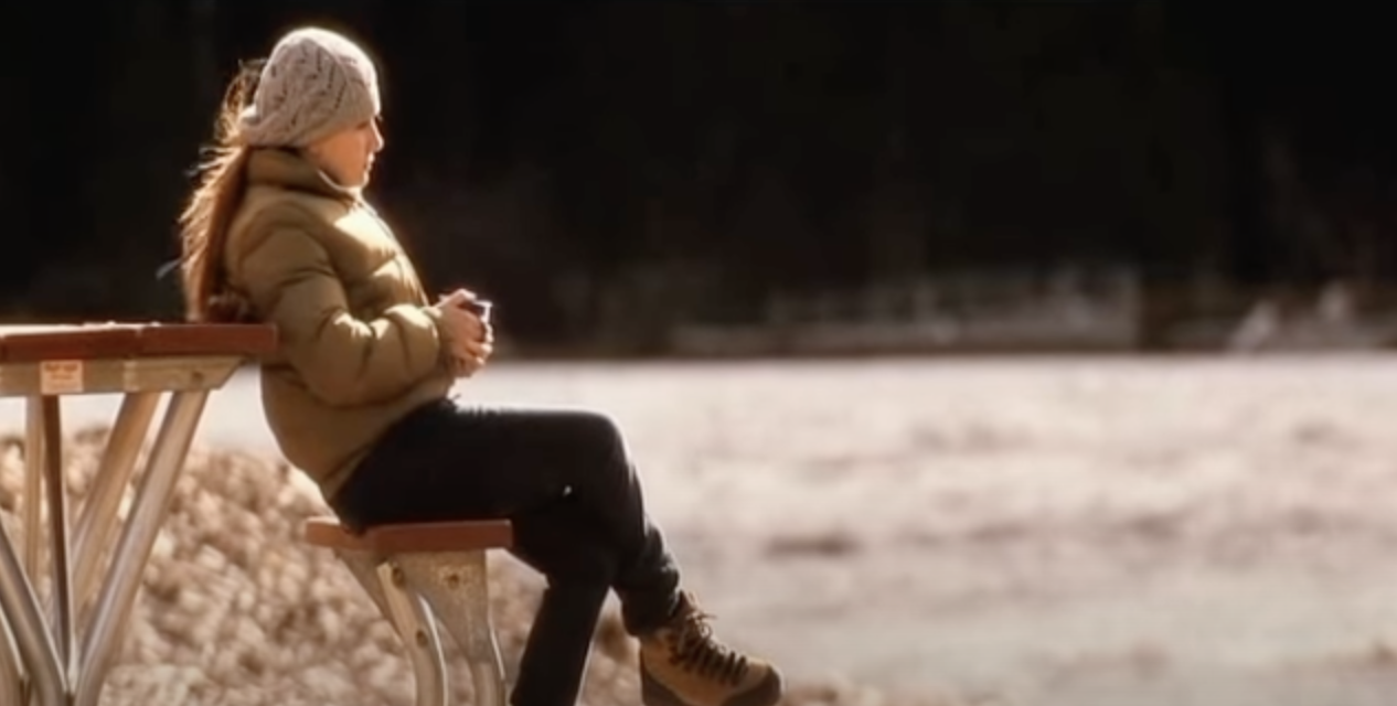 """Anna Fitzgerald sitting on a bench by the water after Kate's death on """"My Sister's Keeper"""""""