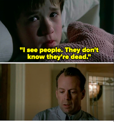 """Malcolm realizing that he was shot on """"The Sixth Sense"""""""