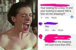 a bride asking a designer to make her a dress for $10