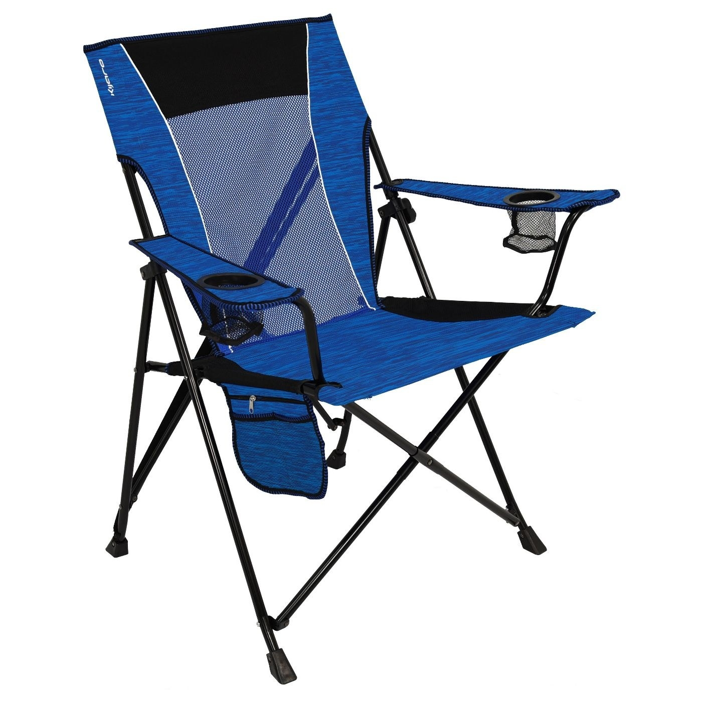 the blue camp chair