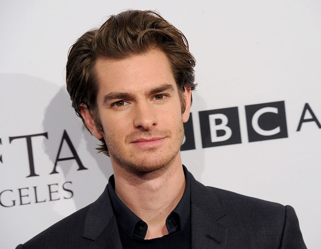 Andrew Garfield arrives at The BAFTA Tea Party
