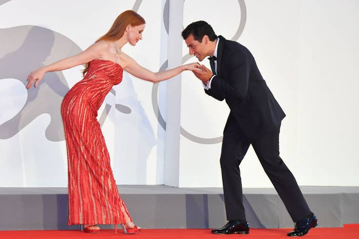 """Jessica Chastain and Oscar Isaac attend the red carpet of the movie """"Scenes From a Marriage (Ep. 1 and 2)"""""""
