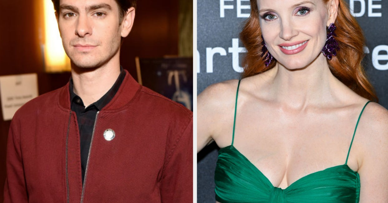 Andrew Garfield Texted Jessica Chastain The Funniest Thing After He Saw Her Viral Kiss Moment With Oscar Isaac