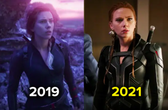 the new Black Widow suit is more stretchy and less fitted than previous iterations