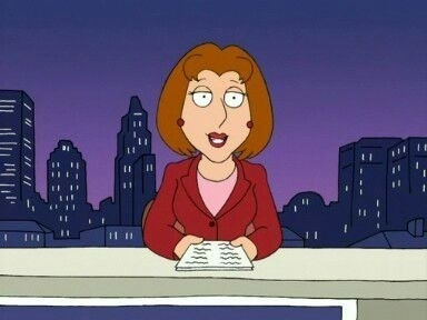 Diane Simmons reads the news