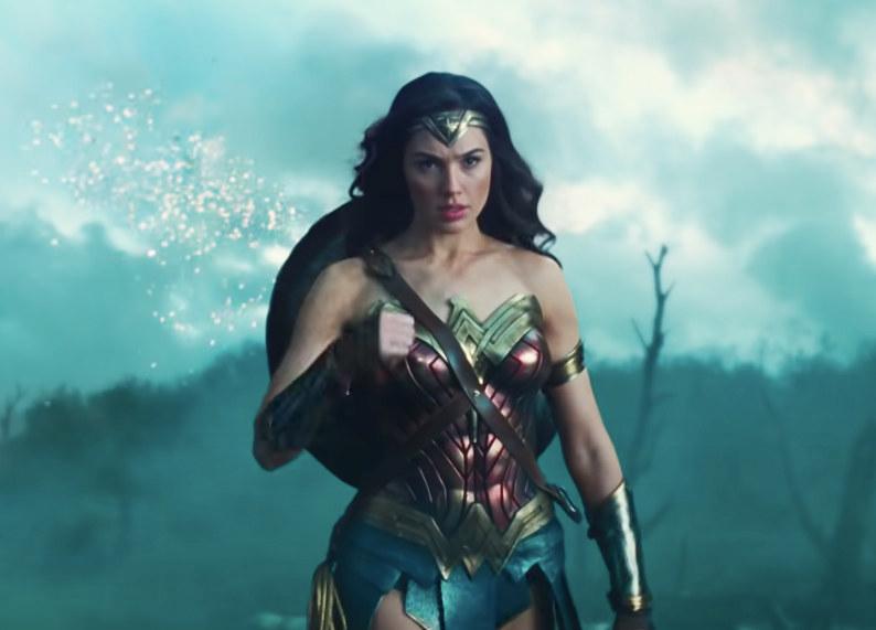 Diana's costume is sleeveless and has a short hem