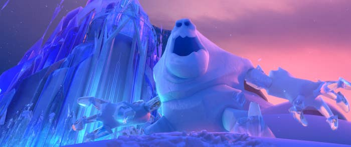 The snow monster from Frozen