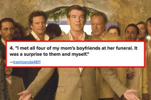 The dads from Mamma Mia! and the quote: