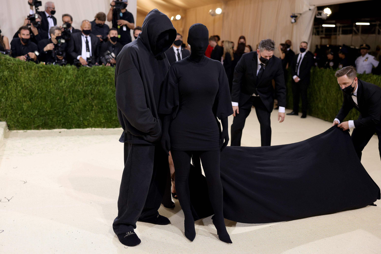 Kim and entourage at the Met Gala