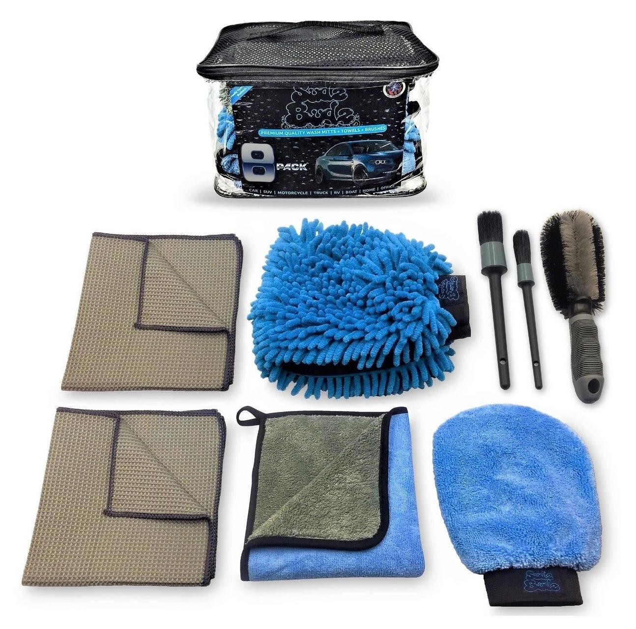 Contents of SudzBudz car wash kit