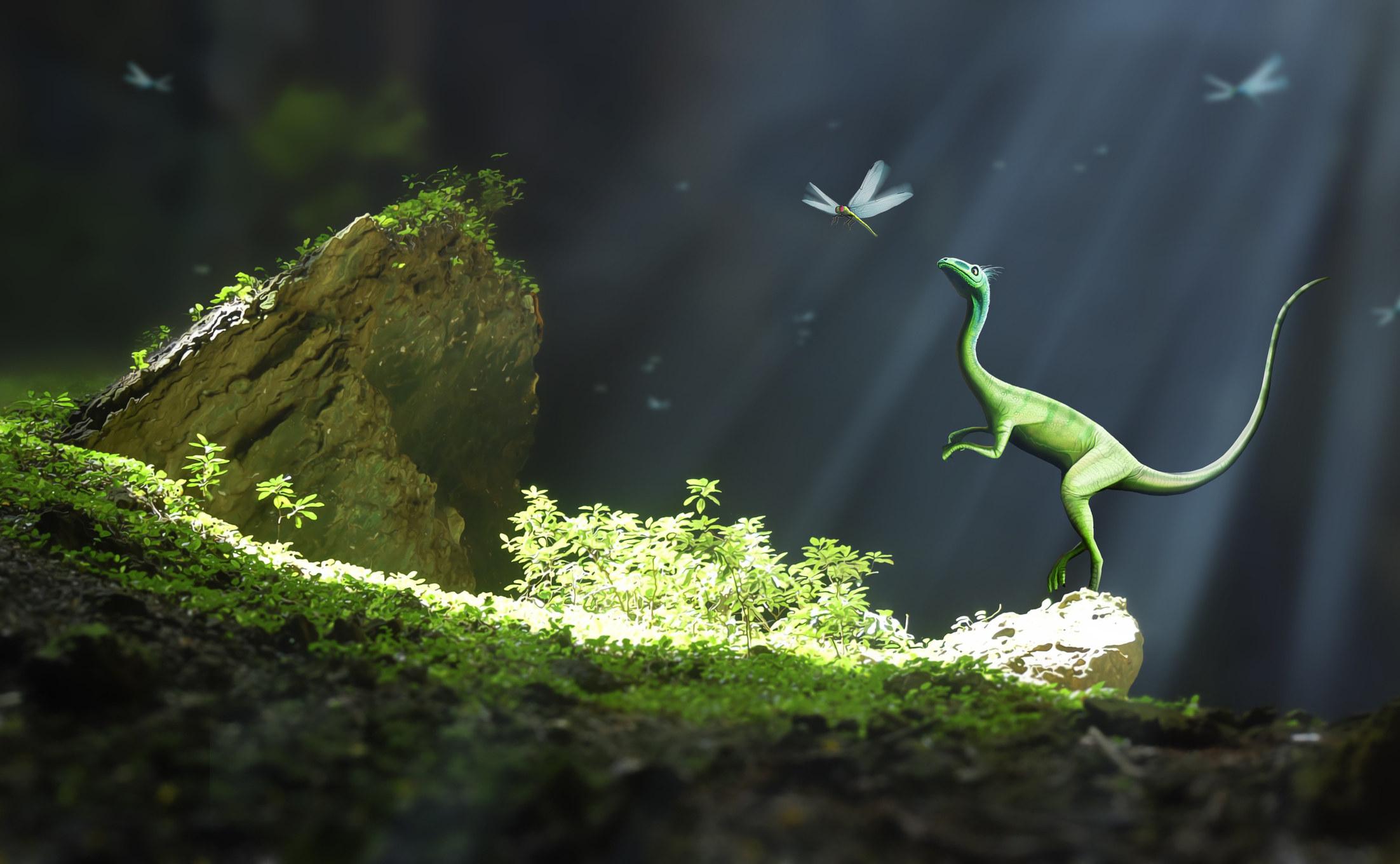 a itty bitty dinosaur