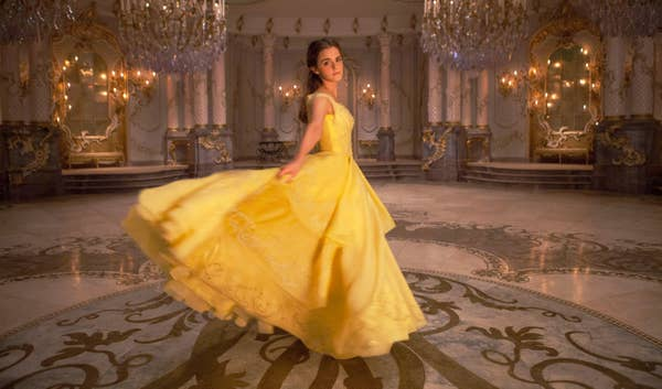 Belle wore a corset-free version of her inconic ballgown