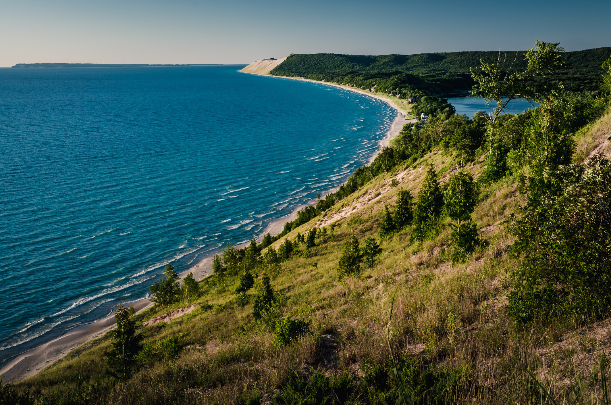 A view of Lake Michigan from Sleeping Bear Dunes National Park.