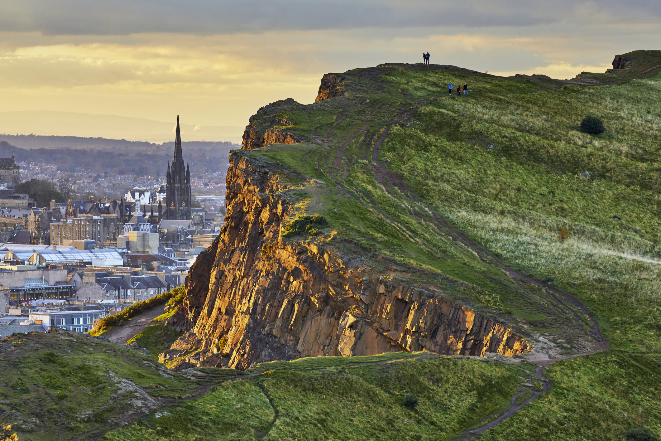 Arthur's Seat hike with an amazing view of Edinburgh.